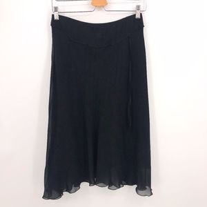🎁 Max Studio silk skirt women's sz XS black
